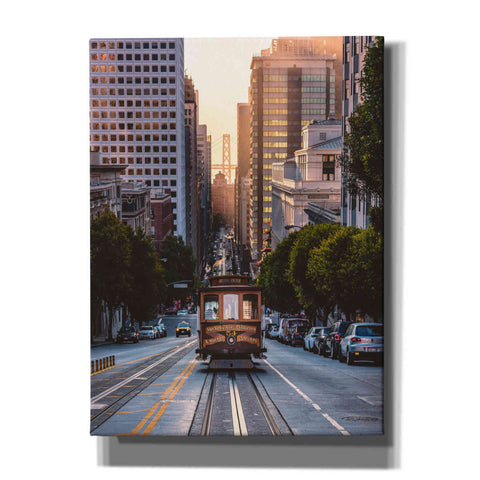 'The Trolly' by Bruce Getty, Canvas Wall Art