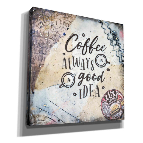 'Coffee Love' by Britt Hallowell, Canvas Wall Art