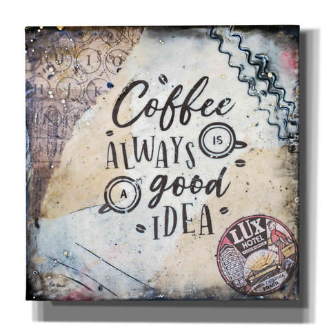 Image of 'Coffee Love' by Britt Hallowell, Canvas Wall Art