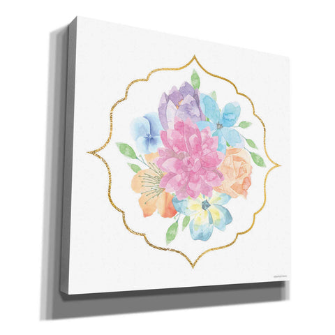 Image of 'Floral Center Flower' by Bluebird Barn, Canvas Wall Art