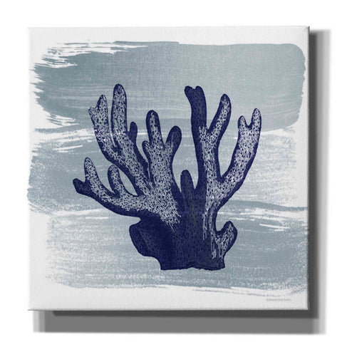 Image of 'Brushed Midnight Blue Elkhorn Coral' by Bluebird Barn, Canvas Wall Art