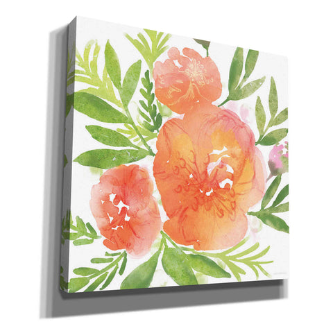 Image of 'Peachy Floral I' by Bluebird Barn, Canvas Wall Art