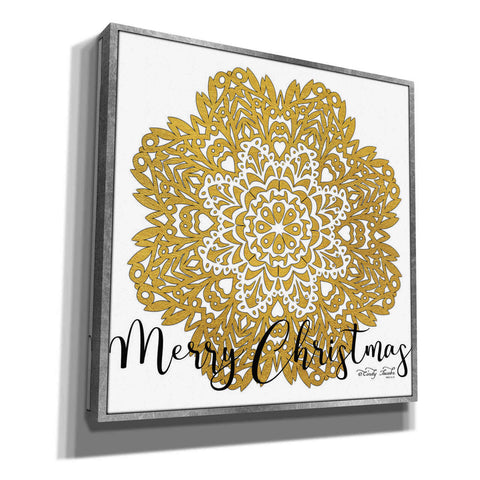 Image of 'Merry Christmas Mandala' by Cindy Jacobs, Canvas Wall Art