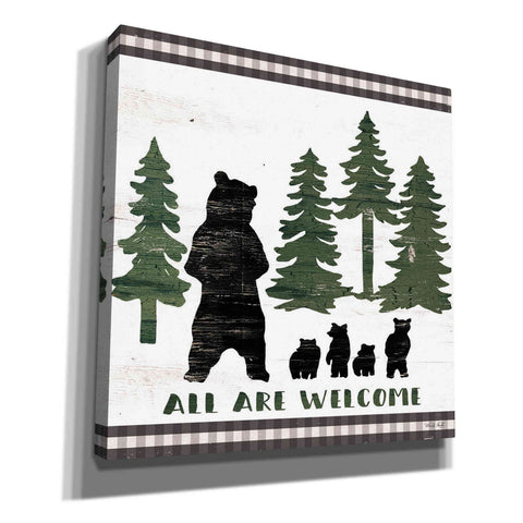 Image of 'All Are Welcome Lodge' by Cindy Jacobs, Canvas Wall Art