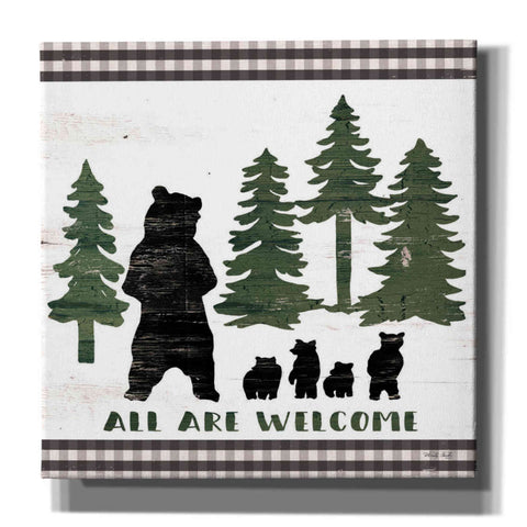 'All Are Welcome Lodge' by Cindy Jacobs, Canvas Wall Art