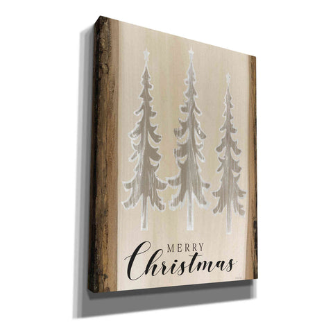 Image of 'White Whisper Christmas Trees' by Cindy Jacobs, Canvas Wall Art