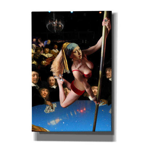 Image of 'Girl with Pearl Earring and Pole' by Barry Kite, Canvas Wall Art