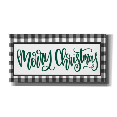 Image of 'Merry Christmas Plaid' by Imperfect Dust, Canvas Wall Art