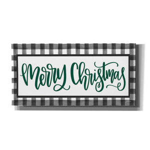 'Merry Christmas Plaid' by Imperfect Dust, Canvas Wall Art