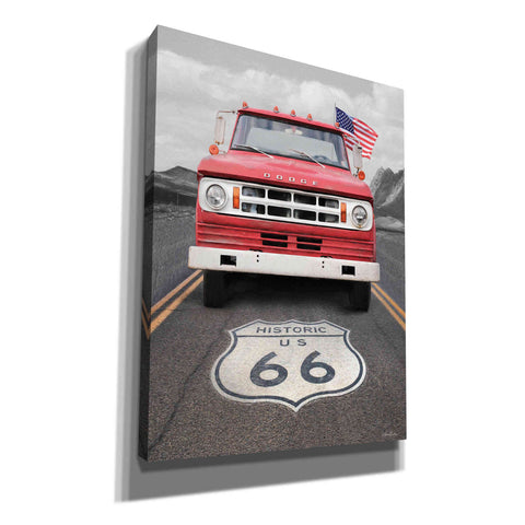 'Dodge on Route 66' by Lori Deiter, Canvas Wall Art