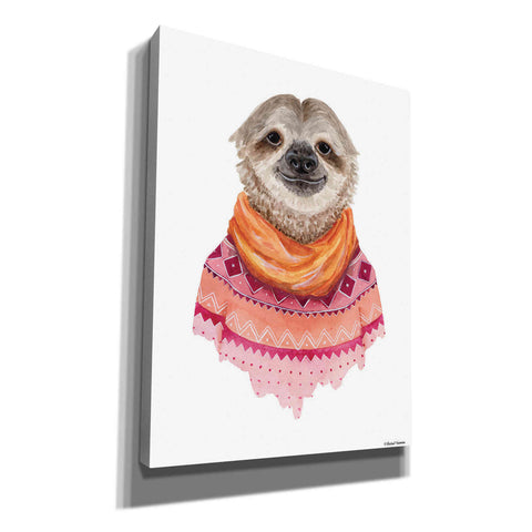 Image of 'Sloth in a Sweater' by Rachel Nieman, Canvas Wall Art