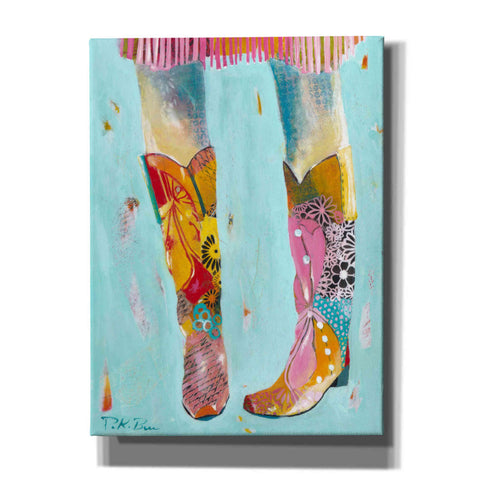 Image of 'Cowgirl Boots' by Pamela Beer, Canvas Wall Art