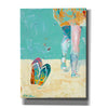 'Flip Flops on the Beach' by Pamela Beer, Canvas Wall Art