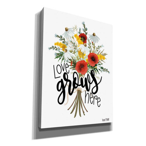 Image of 'Love Grows Here' by House Fenway, Canvas Wall Art