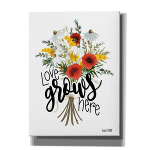 'Love Grows Here' by House Fenway, Canvas Wall Art