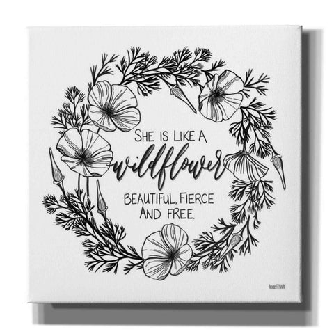 'She is Like a Wildflower' by House Fenway, Canvas Wall Art