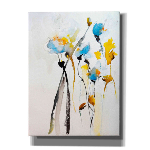 Image of 'Blue Flowers II' by Karin Johannesson, Canvas Wall Art