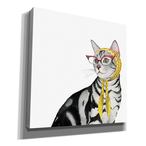 Image of 'Cool Cat III' by Grace Popp, Canvas Wall Art