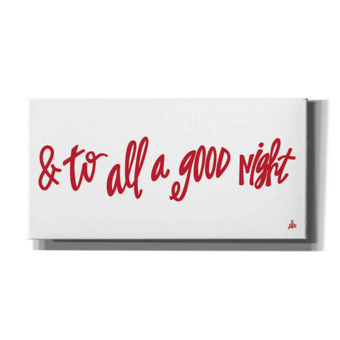 '& to All a Good Night' by Erin Barrett, Canvas Wall Art