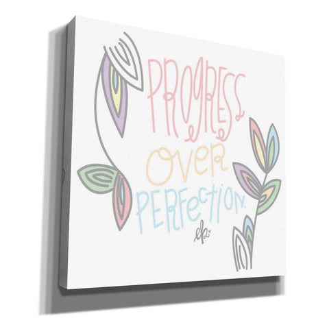 'Progress Over Perfection' by Erin Barrett, Canvas Wall Art