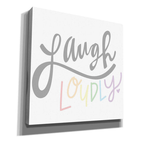 'Laugh Loudly' by Erin Barrett, Canvas Wall Art