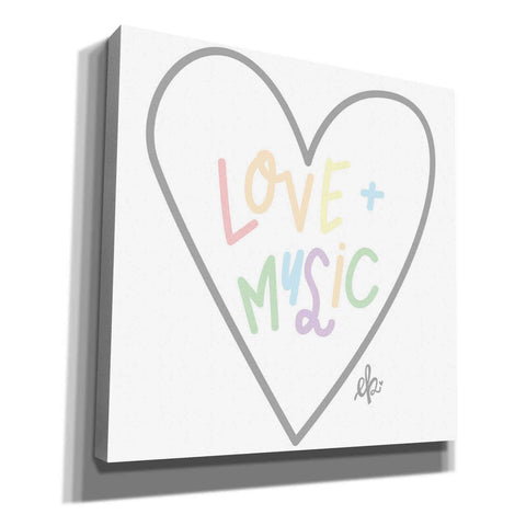 Image of 'Love and Music' by Erin Barrett, Canvas Wall Art