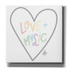 'Love and Music' by Erin Barrett, Canvas Wall Art