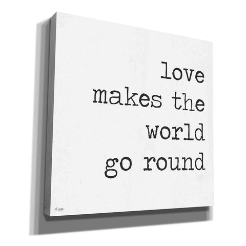 Image of 'Love Makes the World Go Round' by Jaxn Blvd, Canvas Wall Art