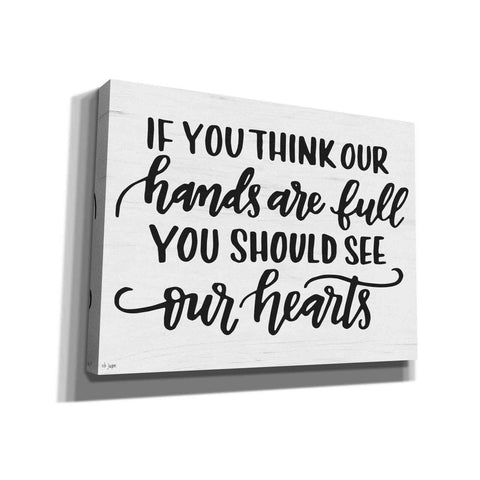 'Our Hearts' by Jaxn Blvd, Canvas Wall Art