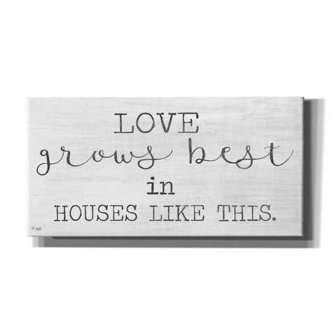 Image of 'Love Grows Best' by Jaxn Blvd, Canvas Wall Art