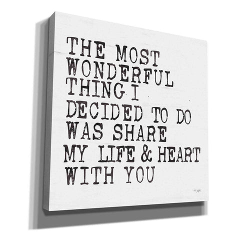 'The Most Wonderful Thing' by Jaxn Blvd, Canvas Wall Art