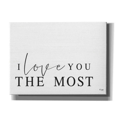 'I Love You the Most' by Jaxn Blvd, Canvas Wall Art