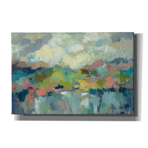 """Abstract Lakeside"" by Silvia Vassileva, Giclee Canvas Wall Art"