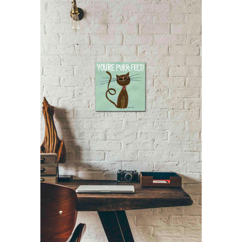 Image of 'Happy Cats Youre Purr-fect' by Anne Tavoletti, Canvas Wall Art,12 x 12