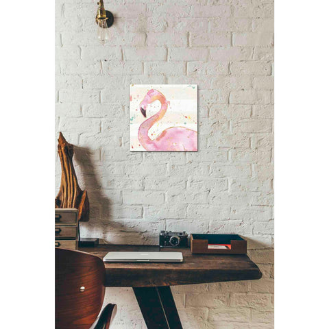 Image of 'Flamingo Fever III' by Anne Tavoletti, Canvas Wall Art,12 x 12