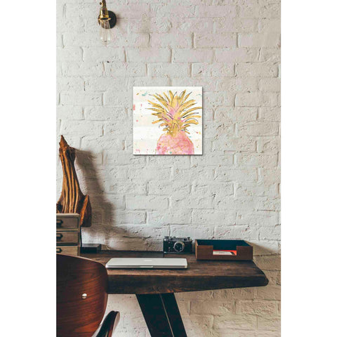 Image of 'Flamingo Fever V' by Anne Tavoletti, Canvas Wall Art,12 x 12