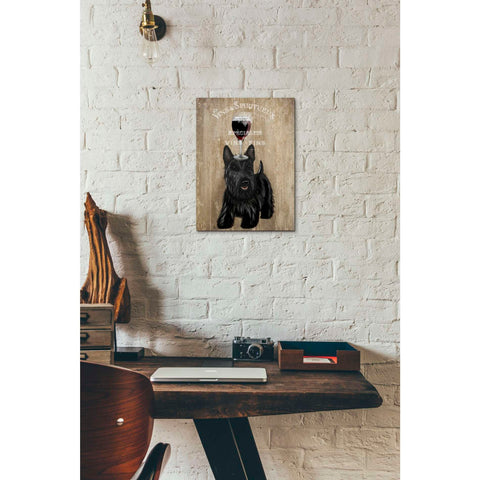 'Dog Au Vin, Scottish Terrier' by Fab Funky, Giclee Canvas Wall Art