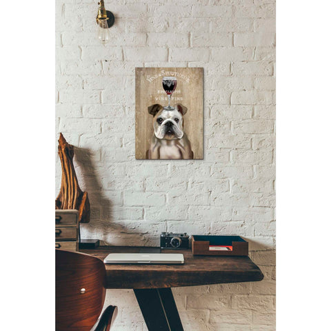 'Dog Au Vin, English Bulldog' by Fab Funky, Giclee Canvas Wall Art