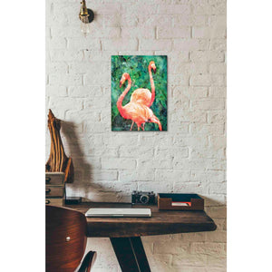 'Flamingos' by Bluebird Barn, Canvas Wall Art,12 x 16