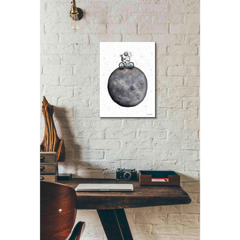 Image of 'Bike on Moon' by Rachel Nieman, Canvas Wall Art,12 x 16