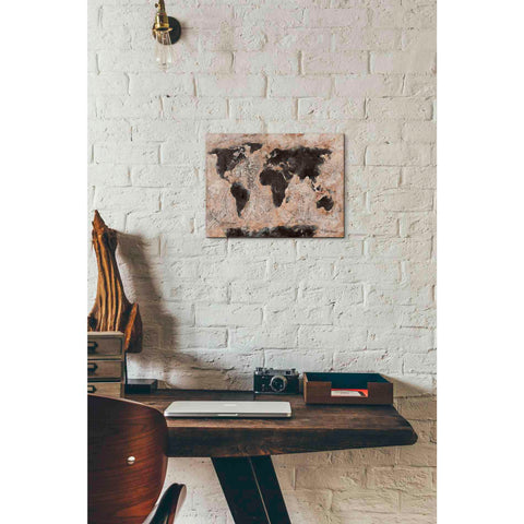 Image of 'Old World Map' by Britt Hallowell, Canvas Wall Art,16 x 12