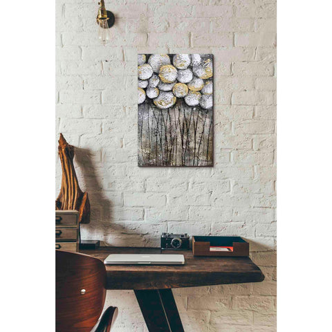 Image of 'Bubble Trees in White' by Britt Hallowell, Canvas Wall Art,12 x 18