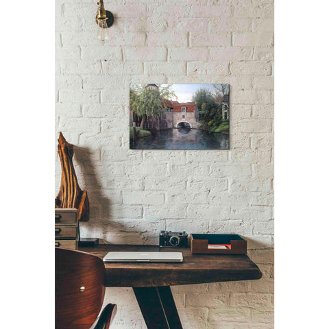 Image of 'House with Bridge' by Barbara Felisky, Giclee Canvas Wall Art