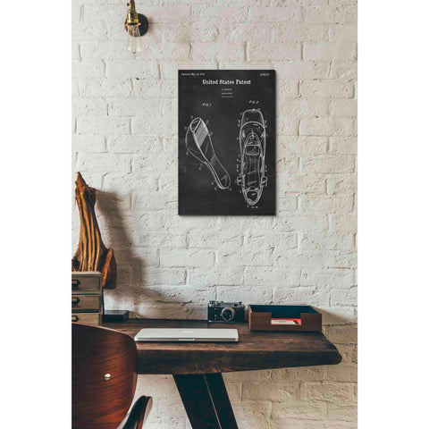 Image of 'Ballet Slippers Blueprint Patent Chalkboard' Canvas Wall Art,12 x 18