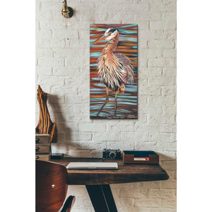 'Watchful Heron II' by Carolee Vitaletti, Giclee Canvas Wall Art