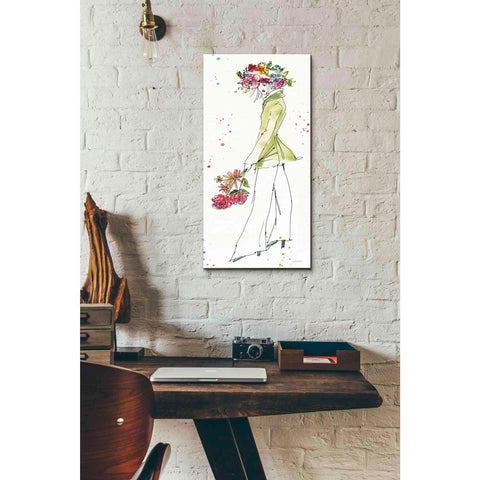 Image of 'Floral Figures VII' by Anne Tavoletti, Canvas Wall Art,12 x 24