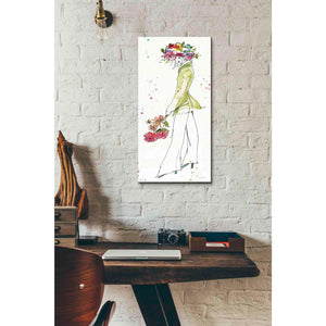 'Floral Figures VII' by Anne Tavoletti, Canvas Wall Art,12 x 24