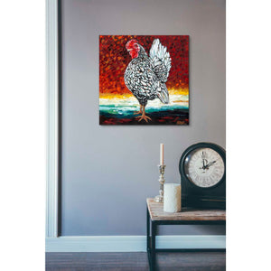 'Fancy Chicken II' by Carolee Vitaletti, Giclee Canvas Wall Art