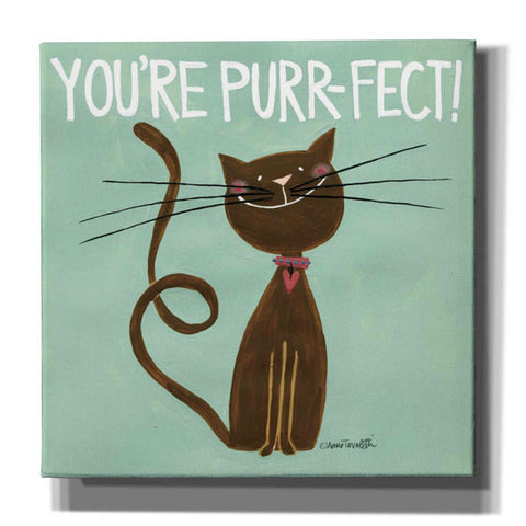Image of 'Happy Cats Youre Purr-fect' by Anne Tavoletti, Canvas Wall Art,18 x 18