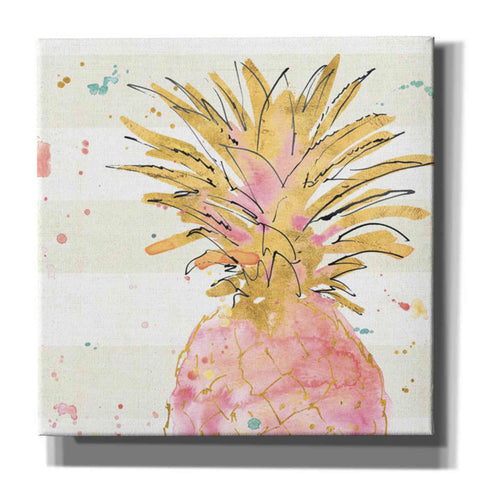 Image of 'Flamingo Fever V' by Anne Tavoletti, Canvas Wall Art,18 x 18